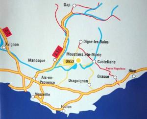 plan accès route