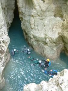 Aquarando dans le Verdon