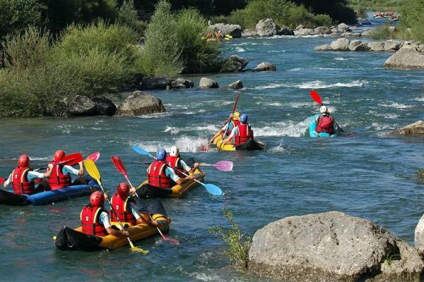 Canoe kayak dans les Gorges du Verdon